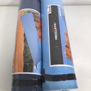 Camping matten - 2 stuks - licht- en donkerblauw - 180x50 cm