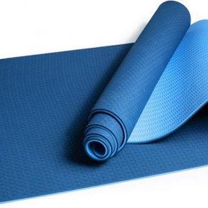 Comfortabele Anti Slip Yoga Mat - Natuurlijk rubber / TPE - Blauw - 183 x 61 x 0.6 cm