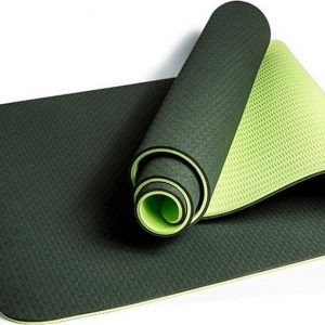 Comfortabele Anti Slip Yoga Mat - Natuurlijk rubber / TPE - DonkerGroen - 183 x 61 x 0.6 cm