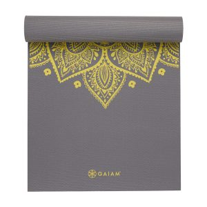 Gaiam Yoga Mat - 6 mm - Citron Sundial
