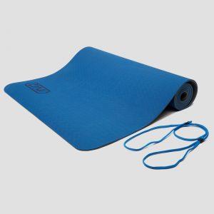 Inq yogamat 5 millimeter tpe grijs/blauw