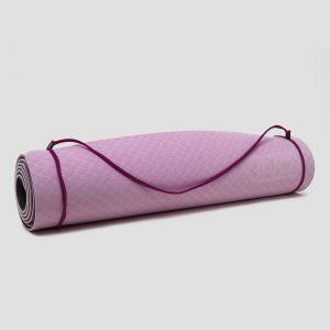 Inq yogamat 5 millimeter tpe zwart/roze