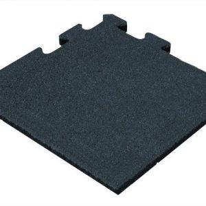 Rubber Tegel - Hoekstuk - Puzzelsysteem - 50 x 50 x 2