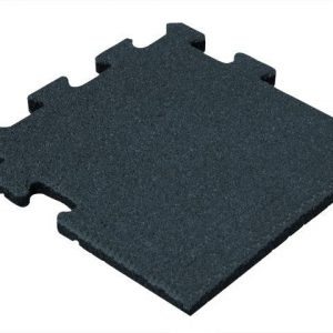Rubber Tegel - Zijstuk - Puzzelsysteem - 50 x 50 x 5 cm - Zwart
