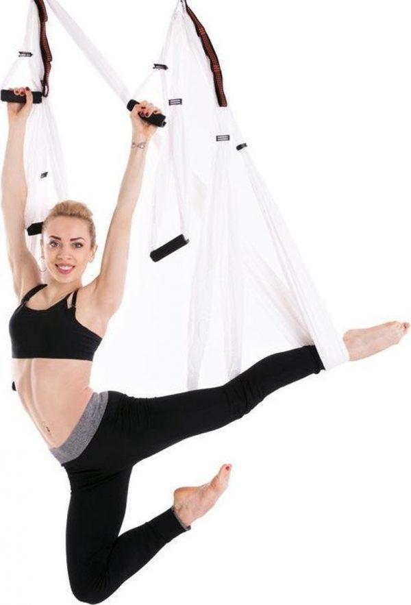 6 handgrepen Bodybuilding Handstand Inelasticiteit Aerial Yoga hangmat (saffierblauw)