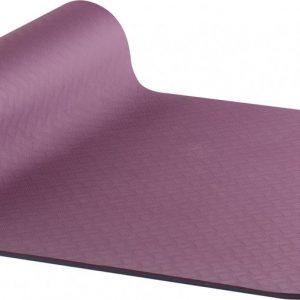 AKO Yin-Yang Earth Dubbelzijdige Yogamat - 6 mm dik - 61x183cm - Aubergine/Blauw