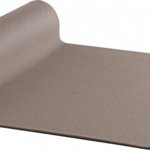 AKO Yin-Yang Earth Dubbelzijdige Yogamat - 6 mm dik - 61x183cm - Bruin/Antraciet
