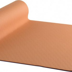 AKO Yin-Yang Earth Dubbelzijdige Yogamat - 6 mm dik - 61x183cm - Oranje/Paars