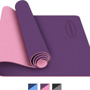 ARMENTI® Premium Yoga mat - Anti slip (extra dik) - Eco friendly Zero waste Duurzaam - TPE - Fitness mat - Sport mat - Roze - Met opbergkoord - Valentijn cadeautje vrouw en hem
