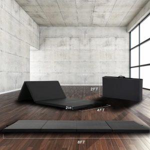 BEST MASSAGE YM-R4-Black Opvouwbare yoga mat - Zwart