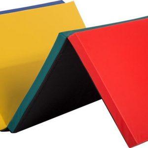 Best Massage YM-R4-CM Opvouwbare yoga mat - Blauw, rood, geel, groen