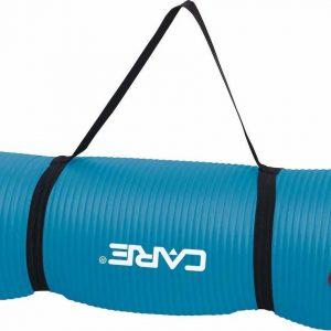 Care Fitness Yogamat Blauw - 183 X 61 X 1,5 Cm - Ophangbaar en Oprolbaar