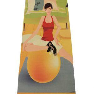 #DoYourYoga Yogamat - Yoganidra - yoga- en gymnastiekmat voor yoga beginners - 183 x 61 x 0,4cm - Yoga Girl