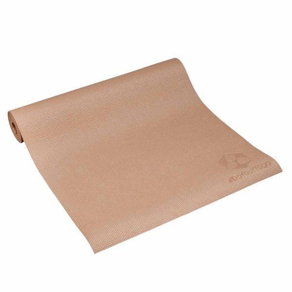 #DoYourYoga Yogamat met Memory schuim van ECO PVC - Kirana - de mat is duurzaam en slijtvast - 183 x 61 x 0,4 cm - Karamel