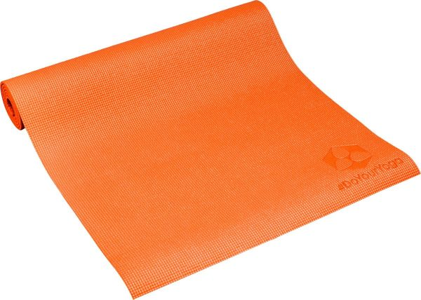 #DoYourYoga Yogamat met Memory schuim van ECO PVC - Kirana - de mat is duurzaam en slijtvast - 183 x 61 x 0,4 cm - Oranje