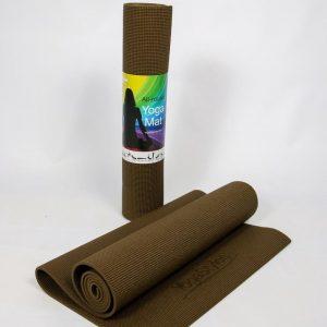 Eko Standaard Yogamat : Soya Bruin - mat voor yoga en fitness - 6mm dik