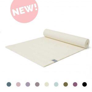 Extra Dikke Yogamat   Creme Wit   Sticky - 6 mm   Love Generation