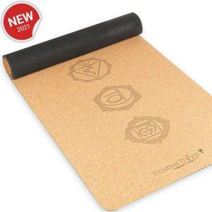 Positive Things Yoga mat - 100% Natuurvriendelijke Kruk Yoga mat met anti slip - Fitness mat