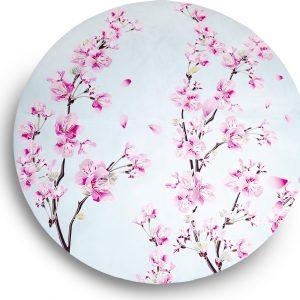 Ronde yogamat Blossom