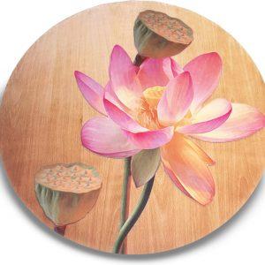 Ronde yogamat Holy Lotus