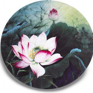 Ronde yogamat Lotus