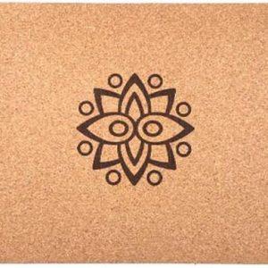 Samarali Classic Kurk Yogamat van Kurk (toplaag) & Natuur rubber (onderlaag) |Milieuvriendelijk | Antimicrobieel|Antislip|183 x 61 x 0.4 cm| met draagband en eBoek