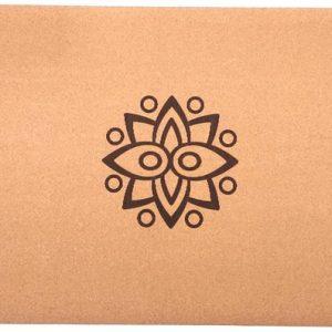 Samarali Sun Eclipse yogamat van Kurk (toplaag) & Natuur rubber (onderlaag) | Milieuvriendelijk| Antimicrobieel| Antislip|183x61x0.4 cm | met draagband en ebook