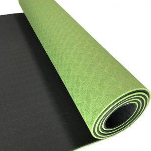 Sportbay Eco Deluxe Yogamat - 183 x 61 cm - Groen/Grijs