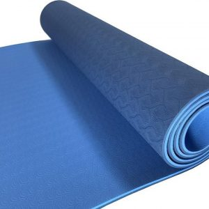 Sportbay Eco Deluxe Yogamat -Licht Blauw - 183 x 61 x 0.6 cm
