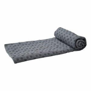 Tunturi Siliconen Yoga Handdoek - 183 x 67 cm - Grijs