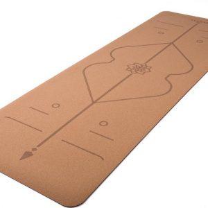 Yamkas Yoga Mat Kurk/Rubber Alignment - 183 x 61 x 0.4 cm