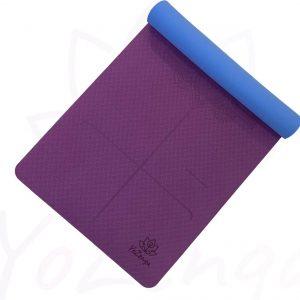 YoZenga yogamat Mandala flower Purple/blue   extra breed