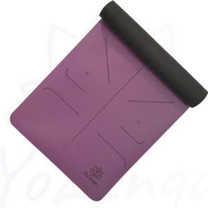 YoZenga yogamat rubber Lotus Purple   extra breed  inclusief gratis draagriem