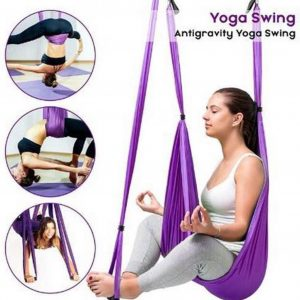 Yoga Aerial swing hangmat compleet systeem met 3 sets handgrepen gewicht tot 300kg