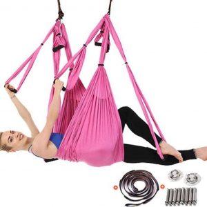 Yoga Aerial swing hangmat met 3 sets handgrepen HEAVY DUTY BETON BEVESTIGING INCLUSIEF gewicht tot 300kg