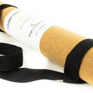 Yogabalance® Eco Kurk Yogamat - 100% Biologisch, Duurzaam, Ecologisch - Yoga, Hot Yoga, Pilates, Gymnastiek, Fitness, Meditatie - Anti-Slip Mat - Incl. Draagriem