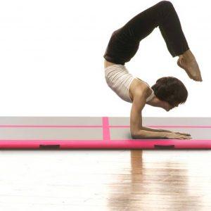 Yogamat met Pomp Opblaasbaar - Roze - 600x100x10 cm