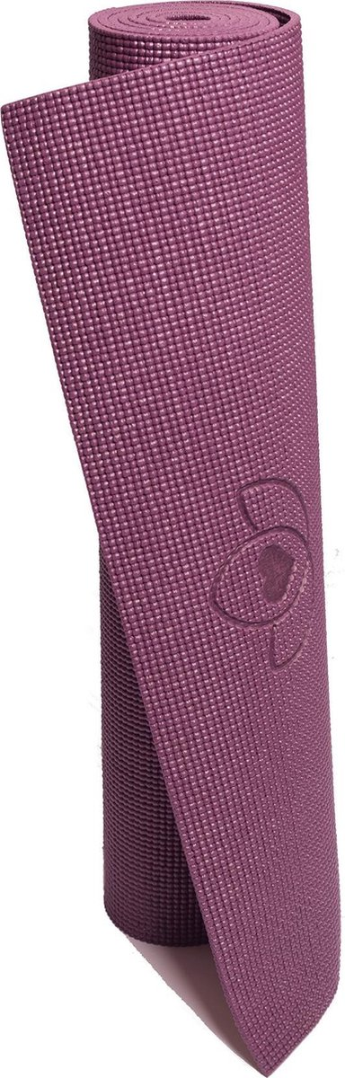 Yogamat sticky extra dik donkerpaars - Lotus - 6 mm