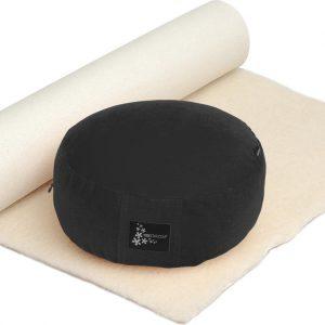 Yogistar Yoga-Set Comfort Edition - Meditation natur 75 x 200 cm black