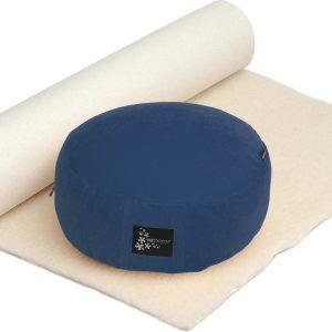 Yogistar Yoga-Set Comfort Edition - Meditation natur 75 x 200 cm darkblue