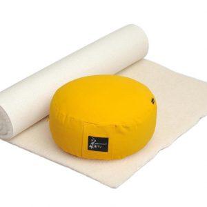 Yogistar Yoga-Set Comfort Edition - Meditation natur 75 x 200 cm safran