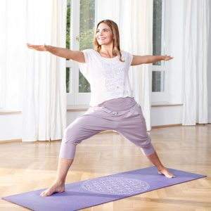 Yogistar Yogamat basic Flower of Life bordeaux