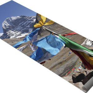 Yogistar Yogamat hot yoga image kailash mountain view