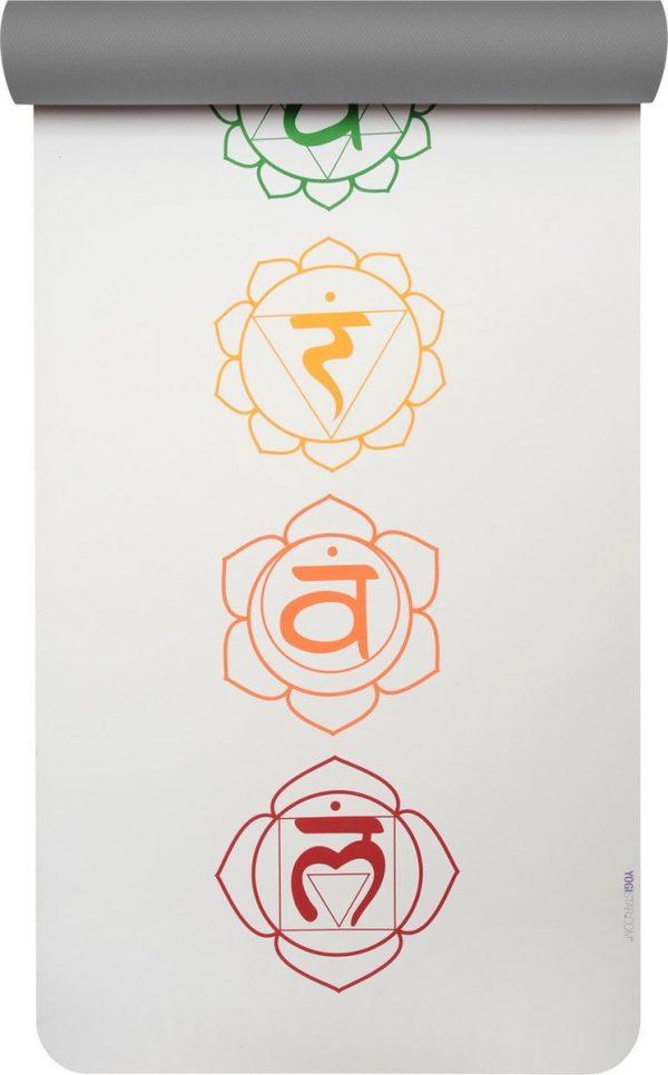 Yogistar Yogamat pro art collection chakra snow/graphite