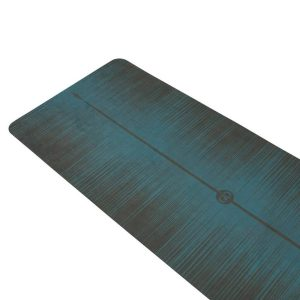 ZENAGOY MiFlow Yoga Mat Ocean Blauw van Rubber met Microvezel Toplaag   Eco-Vriendelijk  180 x 66cm x 3.5mm