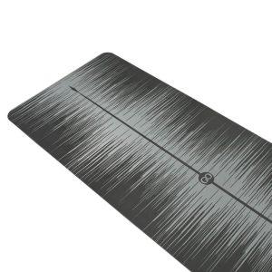 ZENAGOY PUrfect Yoga Mat Grijs van Rubber   Anti slip PU Top   Alignment Lijn   Geschikt voor alle typen yoga   180cm x 66cm x 4mm