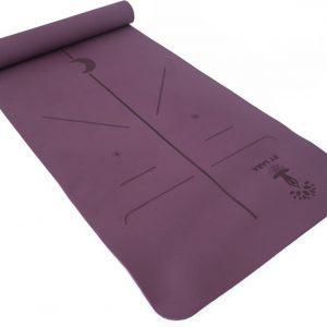 By Lara TPE Yoga Mat - Milieuvriendelijke Yoga Mat - Eco Yoga Mat - Yoga mat met Anti Slip - Fitness Mat - Paars - Inclusief Yoga Poster