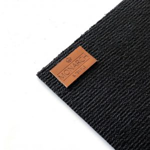Comfortabele Yogamat   Zwart  Xtra grip - 4,5 mm   Monarch & Temple