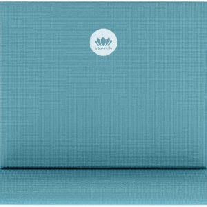Yogamat Appelblauwzeegroen Mudra Studio - Standaard afmetingen - Ecologisch OEKO-TEX® (Baby-Standard) - CO2-GECOMPENSEERD - yoga mat - yogamat - duurzaam -fitness mat - sport mat - yoga mat anti slip