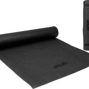 Yogamat - VirtuFit Fitnessmat - Met draagkoord - 183 x 61 x 0.3 cm - Zwart